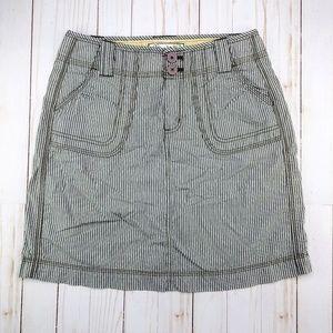 Aventura | Organic Taupe Cotton Pinstripe Skirt